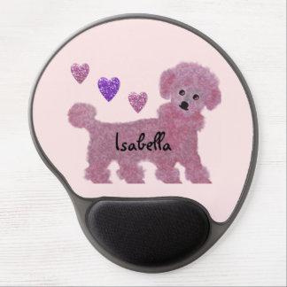 Poodle Hearts Gel Mouse Pad