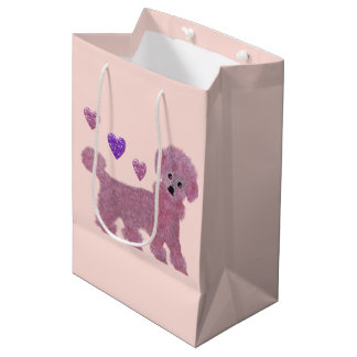 Poodle Hearts Medium Gift Bag
