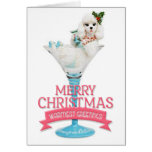Poodle in a Wine Glass Christmas Card