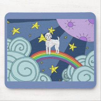 Poodle In Dreamland Mouse Pad
