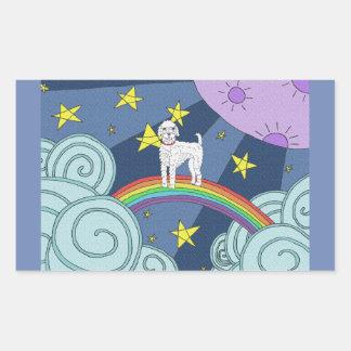 Poodle In Dreamland Rectangular Sticker
