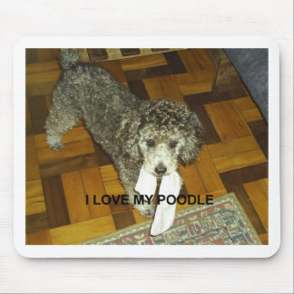 poodle love w pic silver mouse pad