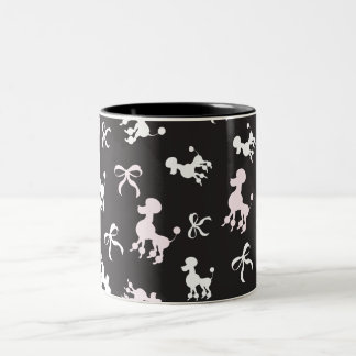 Poodle Lovers Two-Tone Coffee Mug