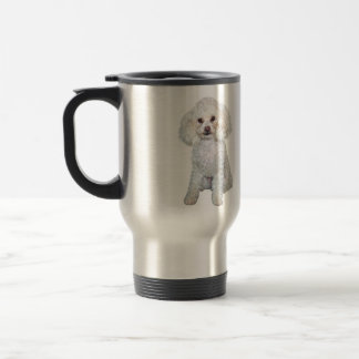 Poodle - Min or toy - White #2 Travel Mug