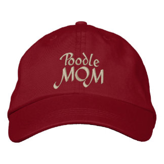Poodle MOM Gifts Embroidered Hat