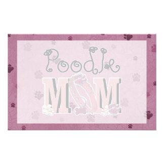Poodle MOM Stationery