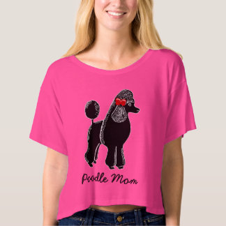 Poodle Mom Women's Bella Boxy Crop Top