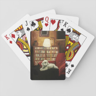 Poodle on Chair Pet Portrait Playing Cards