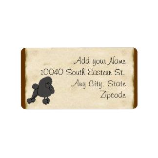 Poodle on Parchment Label