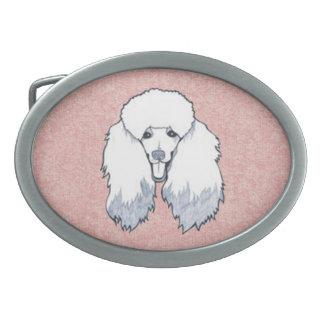 poodle oval belt buckles