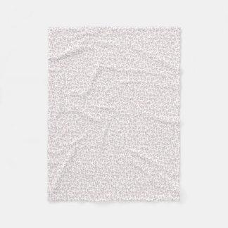 Poodle Pattern Fleece Blanket