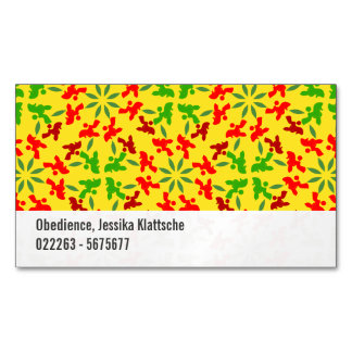 Poodle Pattern Magnetic Business Card