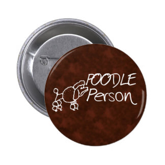 Poodle Person Pin