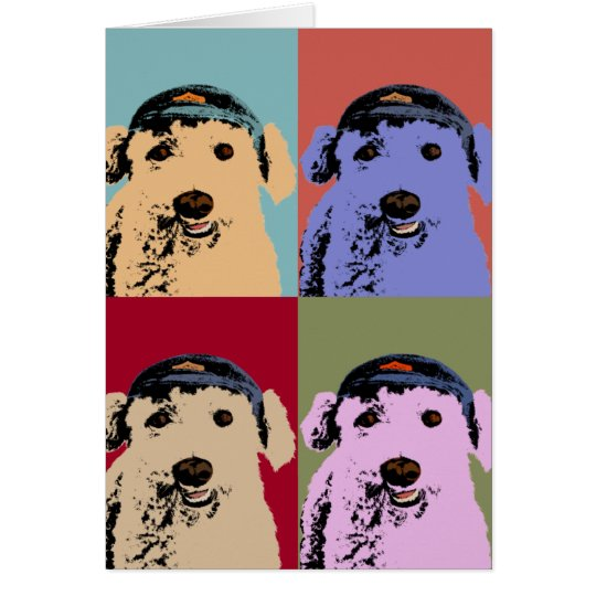 Poodle Pop Art Card