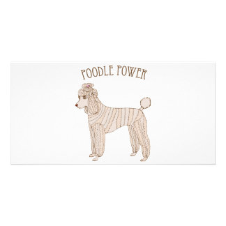 Poodle Power Photo Card