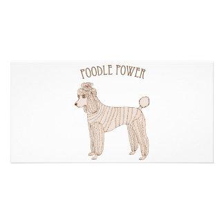 Poodle Power Photo Card