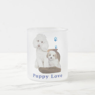 poodle-products frosted glass coffee mug