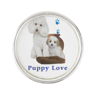 poodle-products lapel pin