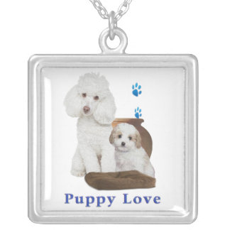 poodle-products silver plated necklace