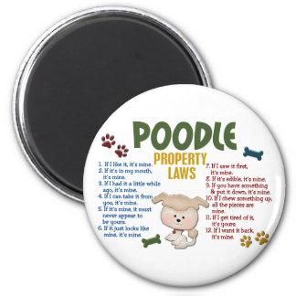 Poodle Property Laws 4 Fridge Magnets