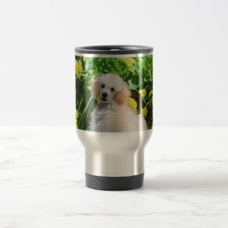 Poodle puppy stainless steel travel mug