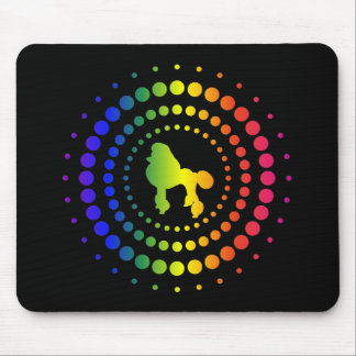 Poodle Rainbow Studs Mouse Pad