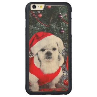 Poodle santa - christmas dog - santa claus dog carved maple iPhone 6 plus bumper case