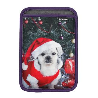 Poodle santa - christmas dog - santa claus dog iPad mini sleeve