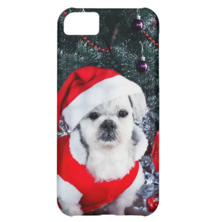 Poodle santa - christmas dog - santa claus dog iPhone 5C case