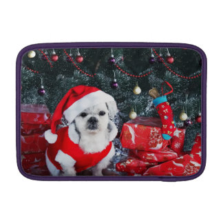 Poodle santa - christmas dog - santa claus dog MacBook sleeve