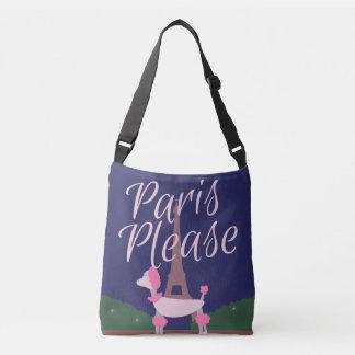 Poodle Says Paris Please Crossbody Bag