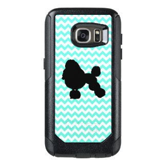 Poodle Silhouette With Light Blue Chevron OtterBox Samsung Galaxy S7 Case