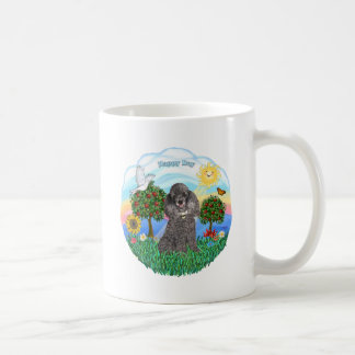 Poodle (silver toy) coffee mug
