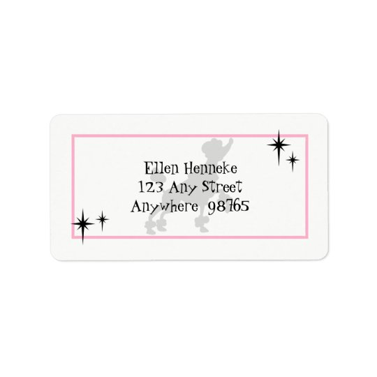 Poodle Skirt Fun Address Label
