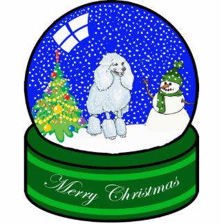 poodle snow globe cut outs