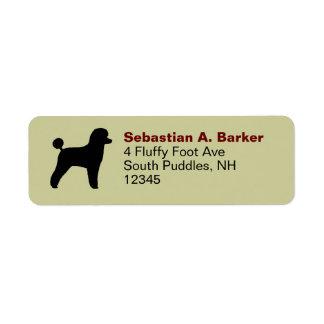 Poodle (Toy, Lamb Cut) Return Address Label