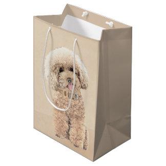 Poodle (Toy, Miniature) Painting Original Dog Art Medium Gift Bag
