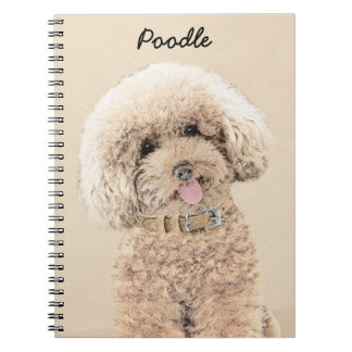 Poodle (Toy, Miniature) Painting Original Dog Art Notebook