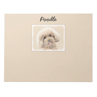Poodle (Toy, Miniature) Painting Original Dog Art Notepad