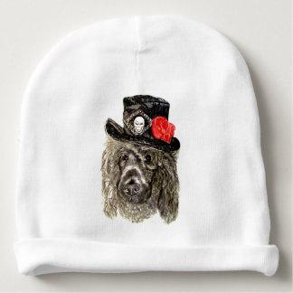 Poodle with Hat by Carol Zeock Baby Beanie