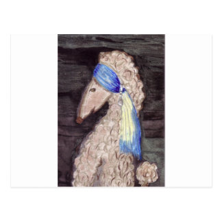 Poodle with the Pearl Earring Postcard