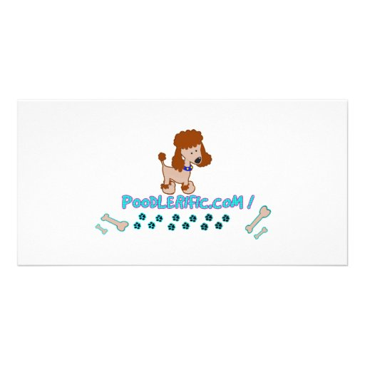 Poodlerific Doggy Goodness !! Personalized Photo Card