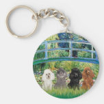 Poodles (four) - Bridge Keychains
