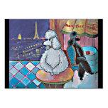 Poodles Paris Cafe Business Card
