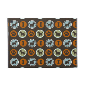 Poodles Pattern with Paw Prints and Dog Biscuits iPad Mini Covers