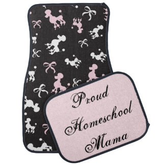 Poodles Proud Homeschool Mama Car Mat