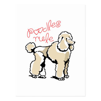 Poodles Rule Postcard