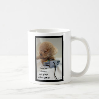 Poodles should not play video games! Mug