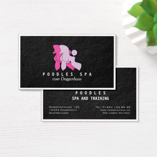 Poodles Spa Cards