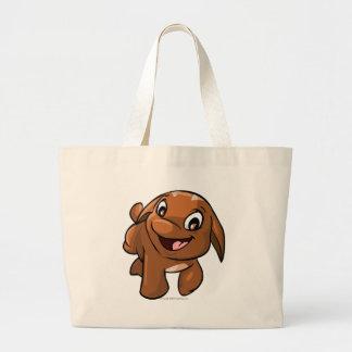 Poogle Brown Jumbo Tote Bag